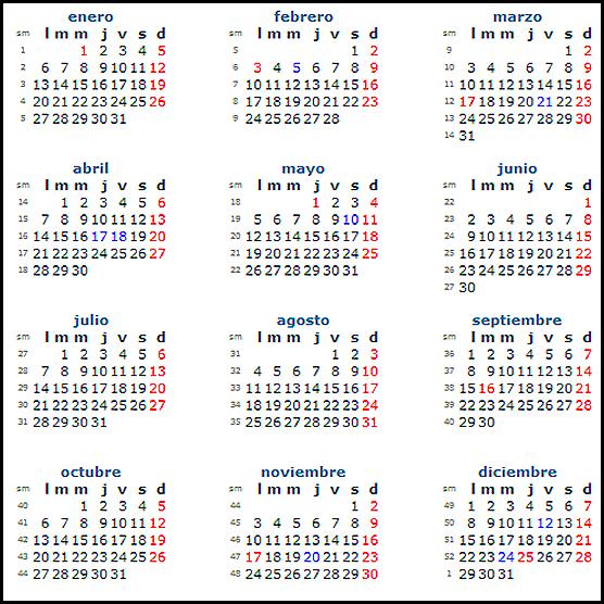 Calendario mexico 2013 dias feriados - Imagui