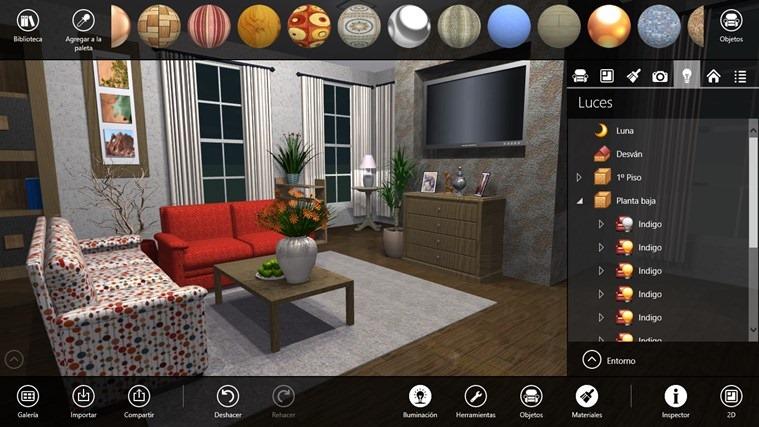 Decora y dise a ambientes interiores con live interior 3d free for Programa para disenar ambientes 3d gratis