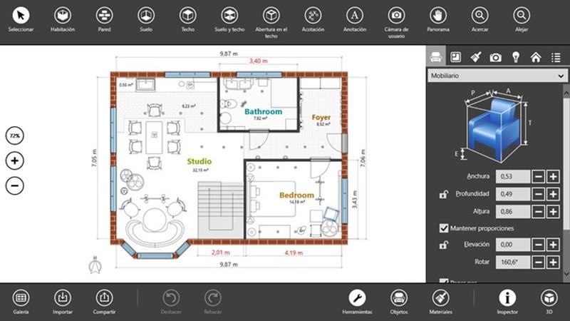 Decora y dise a ambientes interiores con live interior 3d free for Programas de diseno de interiores 3d gratis