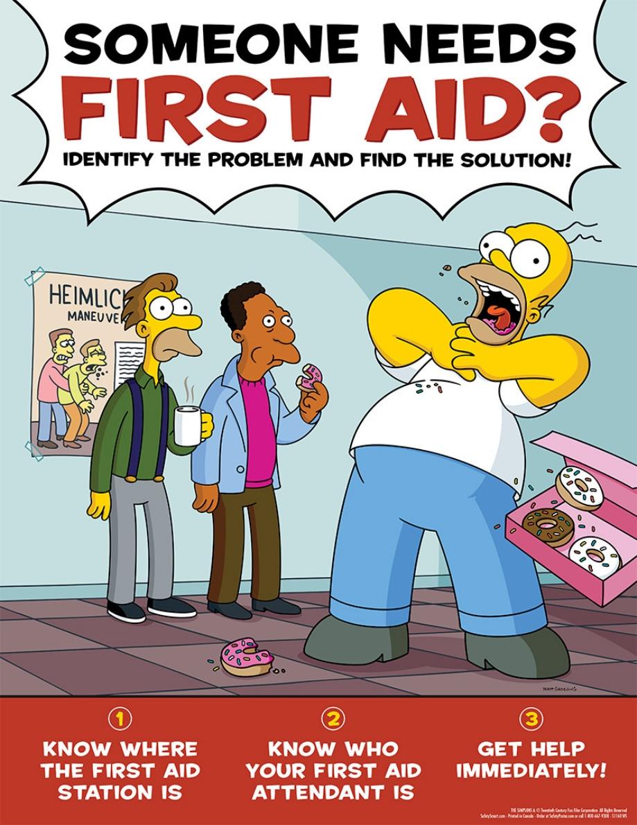 Carteles Para Evitar Accidentes Laborales De Los Simpsons