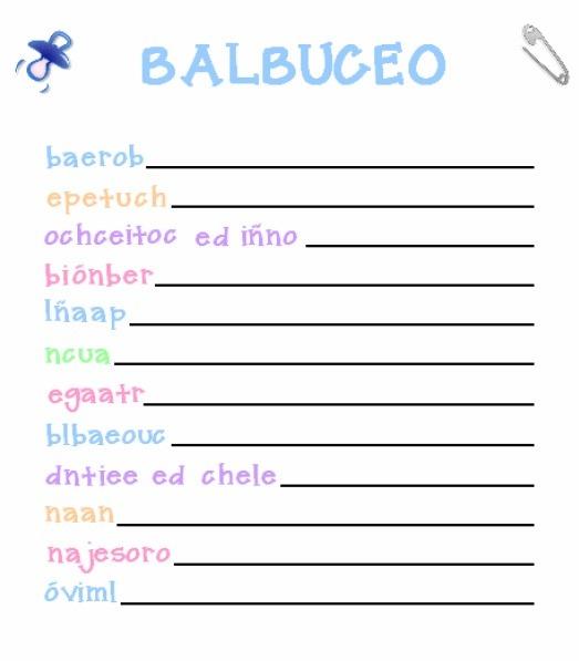 with juego baby shower bingo baby shower juego de balbuceo baby shower